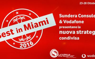Sundera premiata e presente a Miami tra i best partner Nazionali di Vodafone Business.